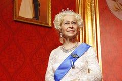 Königin Elizabeth II, Wachsstatue, Wachsfigur, Wachsfigur Lizenzfreie Stockfotos