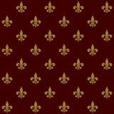 Königliche Lily Fleur de Lis Seamless Pattern Vektor Stockfotografie
