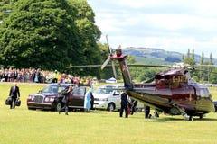 Königlicher Besuch, Derbyshire, Großbritannien Lizenzfreie Stockbilder