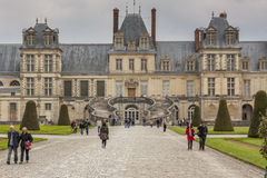 Königliches Jagdschloss in Fontainebleau, Frankreich Lizenzfreies Stockbild