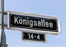 Königsallee street name sign Stock Images