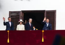 Königsfamilie von Rumänien Stockfotografie