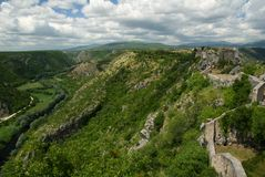Knin fortress by the river Krka Stock Photo