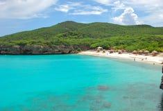 Knip Curacao della spiaggia Fotografia Stock Libera da Diritti