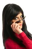 Knipogend meisje Stock Afbeelding