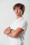 Knipogende jonge mens Royalty-vrije Stock Foto