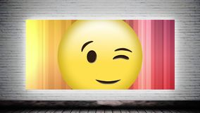 Knipoog smiley op Canvas stock video