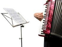 Knipsel met een vrouw het spelen harmonika royalty-vrije stock foto