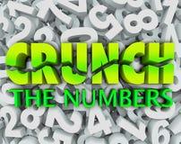 Knirschen Sie die Zahl-Wort-Zahl-Hintergrund-Buchhaltungs-Steuern Lizenzfreie Stockfotografie