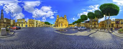 Knisja ta` Kbir Qaddis Ġużeppi Church of Great Saint Joseph stock images