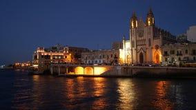 Knisja tal-Karmnu, Spinola Bay, Tas-Sliema, Malta Stock Images