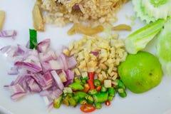 Knistern, thailändisches Artlebensmittel stockbild