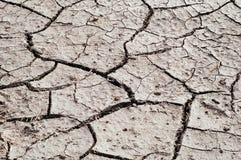 Knisternde trockene Erde von der Dürre Lizenzfreie Stockfotografie