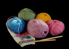 Knit balls Royalty Free Stock Photography
