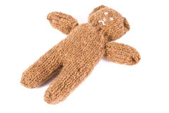Knit bear Royalty Free Stock Photos