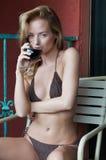 Knit bikini Royalty Free Stock Photography