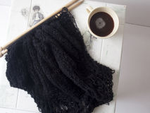 Knit black sweater Royalty Free Stock Photo