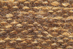 Knit brown camel wool fabric texture.Background. Royalty Free Stock Photo