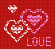 Knit card Love. Royalty Free Stock Photography