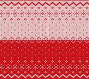 Knit christmas design. Xmas seamless pattern red background.. Knit christmas design. Xmas seamless pattern red background. Knitted winter sweater texture Stock Photography