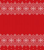 Knit christmas geometric ornament design. Xmas seamless pattern.. Knit christmas geometric ornament design. Xmas seamless pattern. Knitted winter red color Royalty Free Stock Image