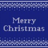 Knit Christmas seamless pattern. Knitting design. Vector illustr Stock Photography
