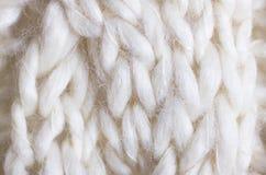 Knit del cable del primer Foto de archivo libre de regalías