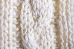 Knit del cavo del primo piano fotografie stock
