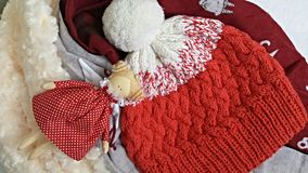 Knit and doll. Stock Photo