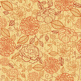 Knit embroidery flowers seamless pattern Stock Image