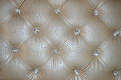 Knit en cuir Images stock