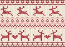 Knit giusto dell'isola della renna senza giunte royalty illustrazione gratis