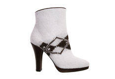 Knit high heel boot Royalty Free Stock Photography