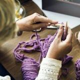 Knit Hobby Homemade Creativity Crochet Concept Royalty Free Stock Images
