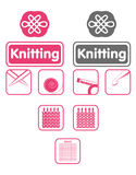 Knit icons Stock Image