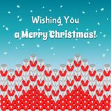 Knit merry Christmass postcard Stock Photography