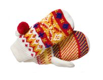 Knit mittens Royalty Free Stock Photography