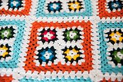 Knit multicolore Beschaffenheit Lizenzfreies Stockfoto