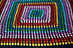 Knit multicolore texture Stock Images