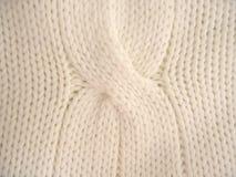 Knit pattern. Winter knit pattern with white yarn Royalty Free Stock Photos