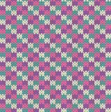 Knit pattern Royalty Free Stock Images