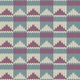 Knit pattern. Seamless knit pattern with triangles Royalty Free Stock Image