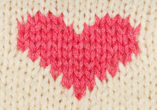 Knit red heart royalty free stock images