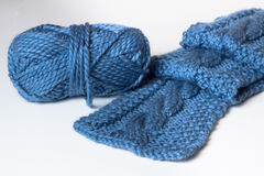 Knit scarf Royalty Free Stock Image