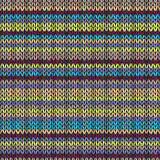 Knit Seamless Multicolor Striped Pattern Royalty Free Stock Photos