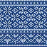 Knit Seamless Ornament Texture Stock Photos