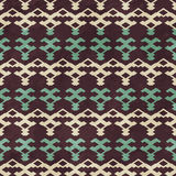 Knit seamless pattern with grunge effect Royalty Free Stock Image