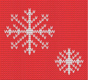 Knit seamless pattern with snowflakes. wool background. . Winter theme. Easy to relocate snowflakes Stock Photography