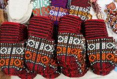 Knit slippers. Turkmenistan. Ashkhabad market Stock Photography