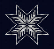 Knit snowflake design Royalty Free Stock Photography